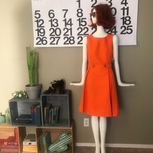 MODCLOTH Sixties Style Dress in Clementine Size M